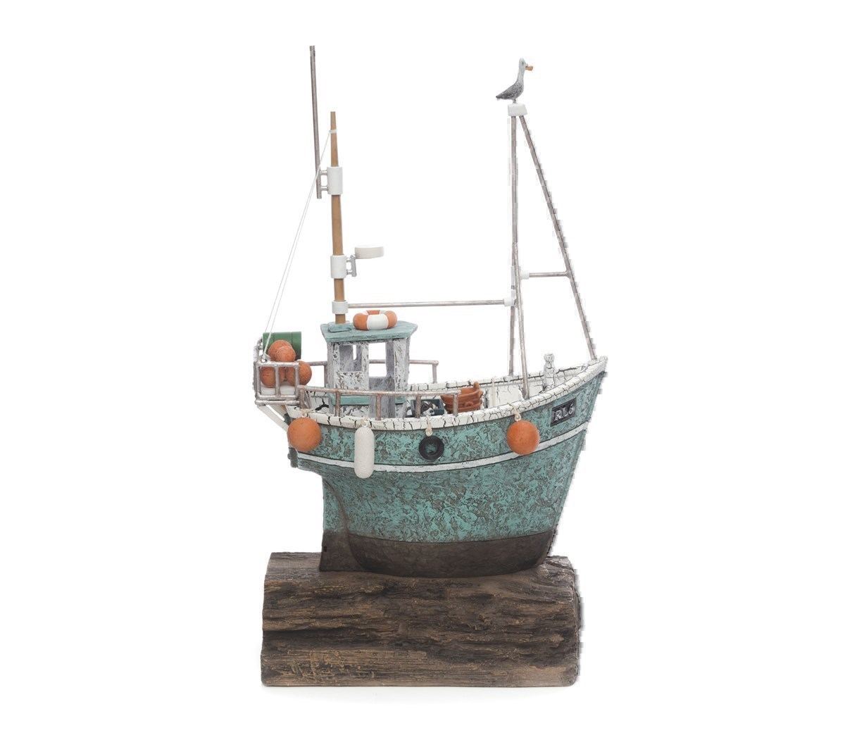 Gone Fishing by Rebecca Lardner - Cold Cast Porcelain sized 16x8 inches. Available from Whitewall Galleries